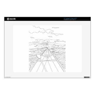 """Boat on the lake 15"""" laptop skin"""