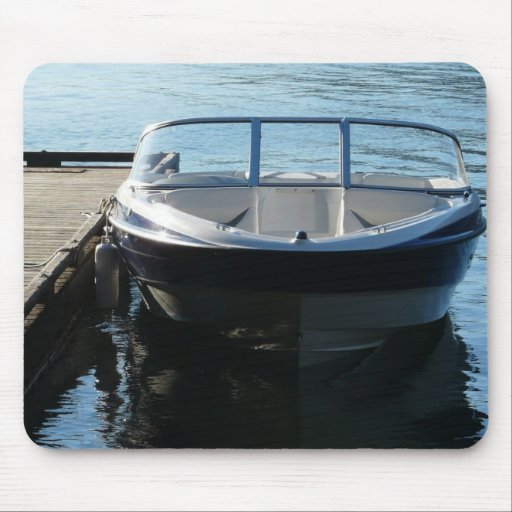 Boat On the Lake Mouse Pad