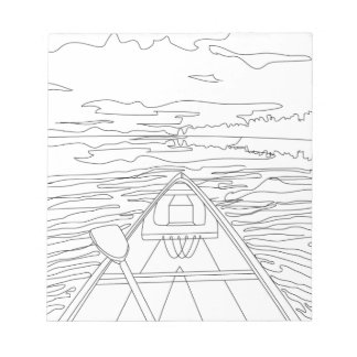 Boat on the lake notepad