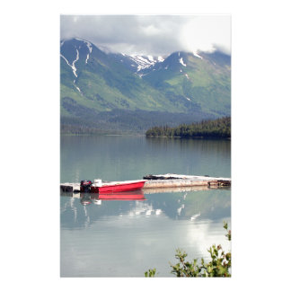 Boat on Trail Lake, Alaska Stationery