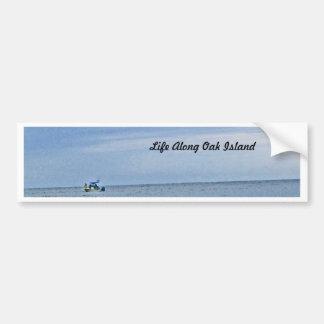 Boat Out At Seas Bumper Sticker