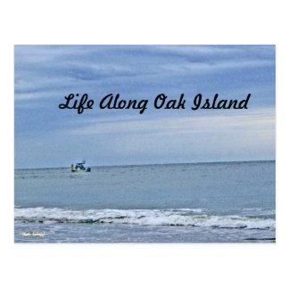 Boat Out At Seas Postcard