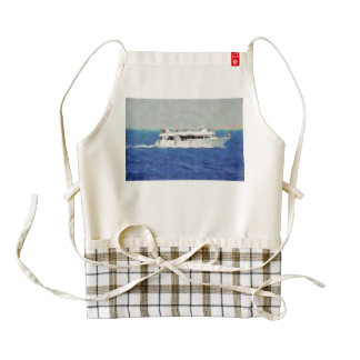 Boat painting zazzle HEART apron