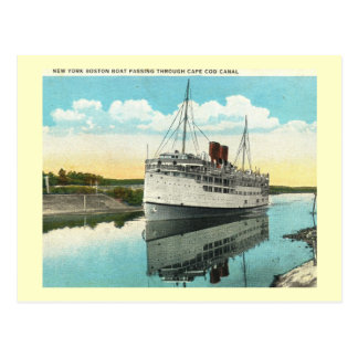 Boat Passing Through Cape Cod Canal Vintage Postcards