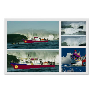 Boat Passsing by High Tides Print