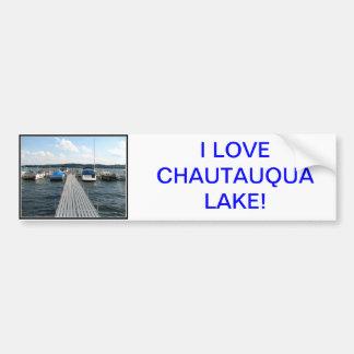 Boat Pier  - Chautauqua Lake Bumper Sticker