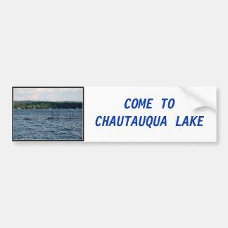 Boat Pier  - Chautauqua Lake Bumper Stickers