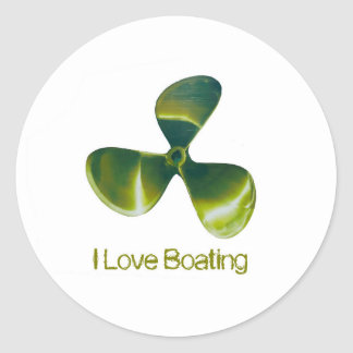 Boat Propeller image Classic-Round-Sticker-Glossy Classic Round Sticker