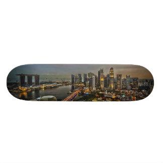 Boat Quay Singapore City Skyline Panorama Skateboard Deck