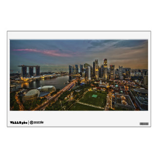 Boat Quay Singapore City Skyline Panorama Wall Sticker