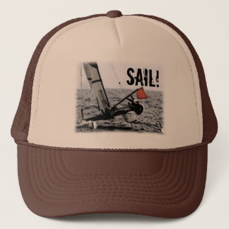 Boat Race Catamaran Picture Trucker Hat