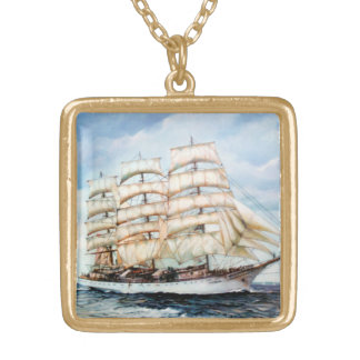 Boat race Cutty Sark/Cutty Sark Tall Ships' RACE Gold Plated Necklace