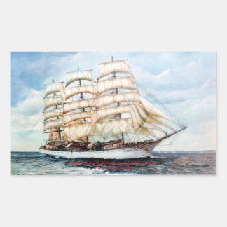 Boat race Cutty Sark/Cutty Sark Tall Ships' RACE Rectangular Sticker