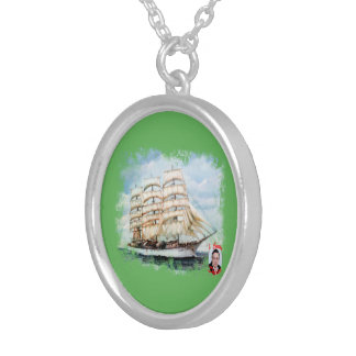 Boat race Cutty Sark/Cutty Sark Tall Ships' RACE Silver Plated Necklace