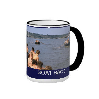 Boat Race, TS Arethusa Ringer Coffee Mug