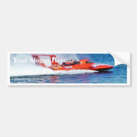 Boat Racing Bumper Sticker