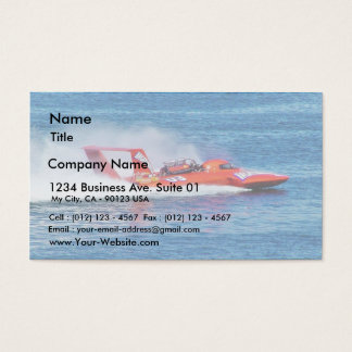 Boat Racing Business Card