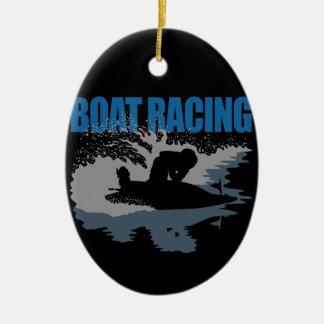 boat racing ceramic ornament