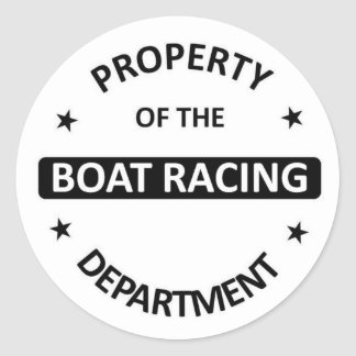 Boat Racing Department Stickers