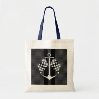 Boat Racing Nautical Carbon Fiber Chrome Styles Tote Bag