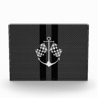 Boat Racing Nautical in Carbon Fiber Style Acrylic Award