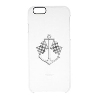 Boat Racing Nautical in Carbon Fiber Style Clear iPhone 6/6S Case