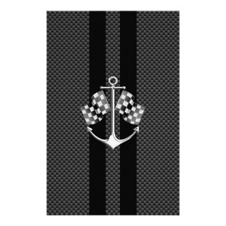 Boat Racing Nautical in Carbon Fiber Style Personalized Flyer