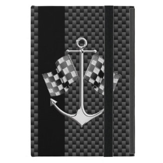 Boat Racing Nautical in Carbon Fiber Style Cover For iPad Mini