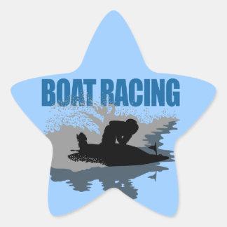 boat racing star sticker