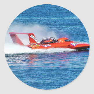 Boat Racing Classic Round Sticker