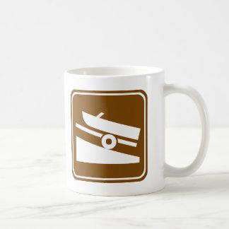 Boat Ramp Highway Sign Coffee Mug