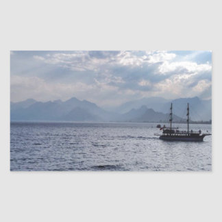 Boat Rectangular Sticker