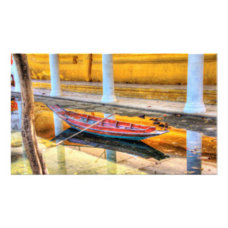 Boat reflection #2 photo print
