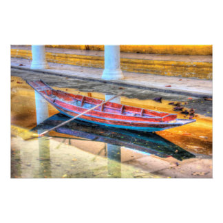 Boat reflection photo print