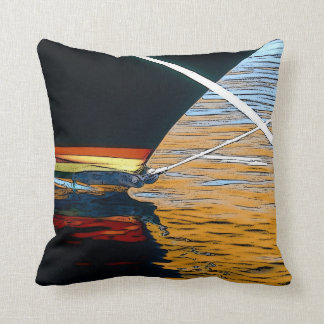 Boat Reflections, pillow