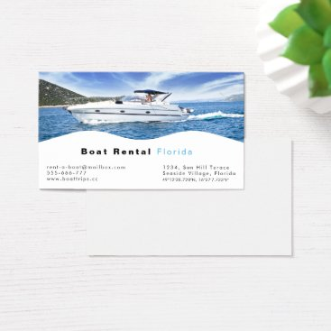 Professional Business Boat rental Business Card