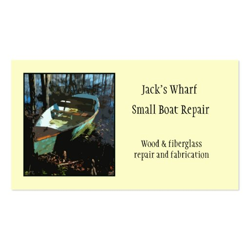 Boat repair business card template zazzle for Boat business cards