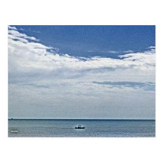 Boat Ride At Sea Postcard
