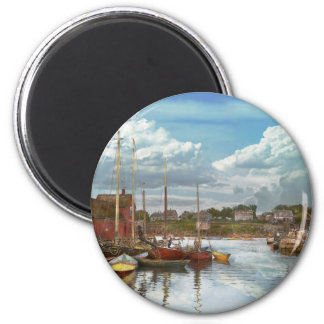 Boat - Rockport Mass - Motif Number One - 1906 2 Inch Round Magnet