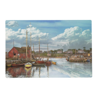 Boat - Rockport Mass - Motif Number One - 1906 Laminated Placemat