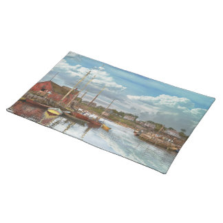 Boat - Rockport Mass - Motif Number One - 1906 Cloth Place Mat