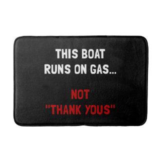 Boat Runs Gas Bath Mat