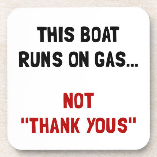 Boat Runs Gas Drink Coaster
