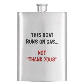 Boat Runs Gas Hip Flask