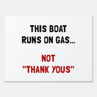 Boat Runs Gas Sign