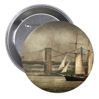 Boat - Sailing - Clipper City Pinback Buttons