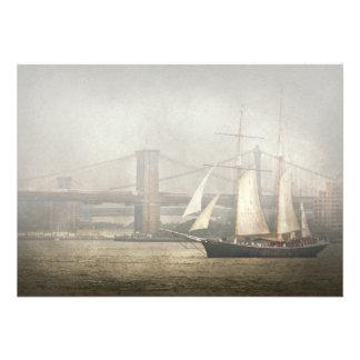 Boat - Sailing - Clipper City Personalized Invitation