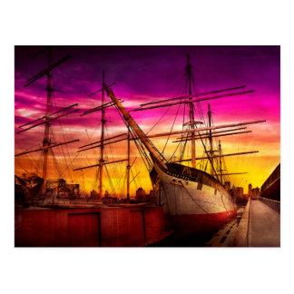 Boat - Sailing - Fleet week Postcard