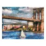Boat - Sailing under the Brooklyn Bridge Flyer Design