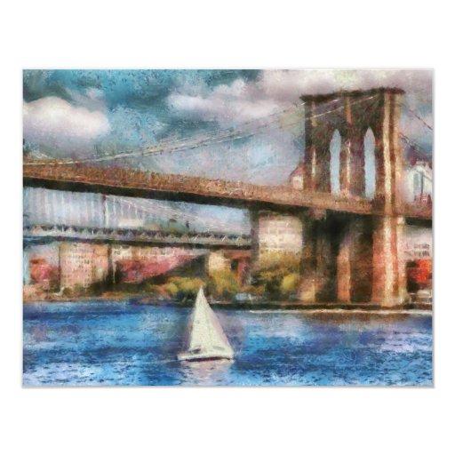 Boat - Sailing under the Brooklyn Bridge Announcement